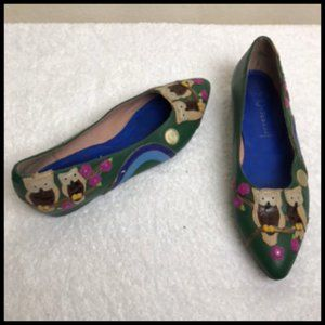 Jeffrey Campbell Who Who Owl Leather Flats 10 M